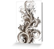 Sepia Abstract Flame Greeting Card