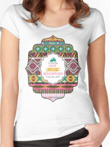 Native american colorful  tribal pattern Women's Fitted Scoop T-Shirt
