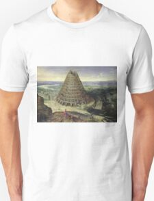 Lucas van Valckenborch - The Tower Of Babel. building landscape: city view, spiral, tower, tower of babel,  babel,  mythology, architecture, construction, gardens, panorama garden, buildings Unisex T-Shirt
