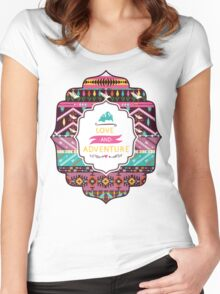 Navajo pattern with geometric elements Women's Fitted Scoop T-Shirt