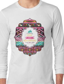 Navajo pattern with geometric elements Long Sleeve T-Shirt