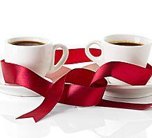 Wedding still life, wedding rings, cups of coffee by yvdavyd