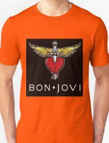 BON JOVI SWORD HEART LOGO BEST Unisex T-Shirt