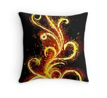 Dark Abstract Throw Pillow