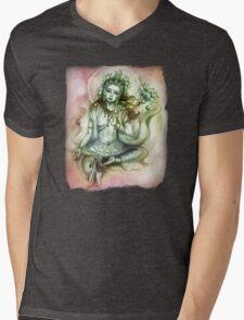 Green Tara Mens V-Neck T-Shirt