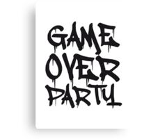 Game Over Party Graffiti Canvas Print
