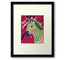 Punk Zebra Framed Print