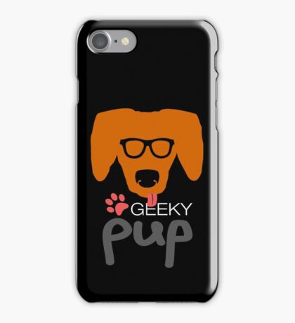 Geeky Pup with Floppy Ears iPhone Case/Skin