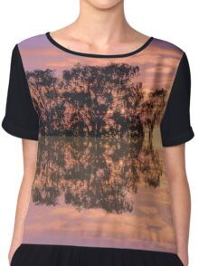 Sunset in reflections Chiffon Top
