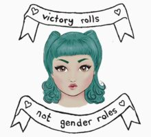 Victory rolls, not gender rolls. (without background) by naiadnymph