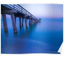 NAPLES PIER BLUE Poster