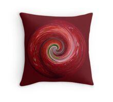 Strawberry ripple Throw Pillow