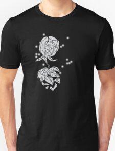 Alice in Wonderland - White Rose Unisex T-Shirt
