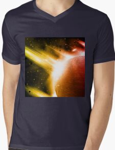 Retro space background Mens V-Neck T-Shirt
