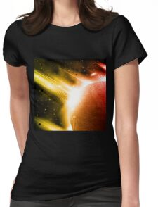 Retro space background Womens Fitted T-Shirt