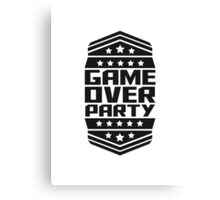 Game Over Party Design Canvas Print