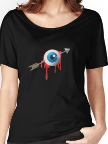 Arrow eye -blue on black- Women's Relaxed Fit T-Shirt