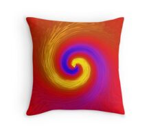 Whirlpool of paint Throw Pillow