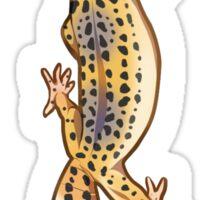 Fastwalking Normal Leopard Gecko - Vertical Sticker