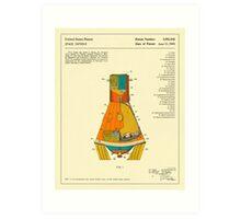 Space Capsule (1963) Art Print