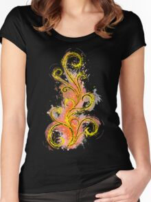 Dark Abstract Women's Fitted Scoop T-Shirt