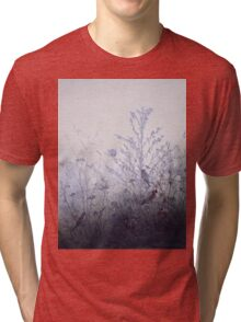 Leon Bonvin - Birds Resting On Bushes. Bird painting: cute fowl, fly, wings, lucky, pets, wild life, animal, birds, little small, bird, nature Tri-blend T-Shirt