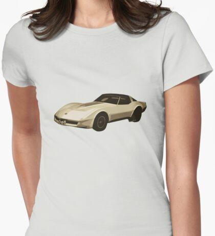 82 Corvette Generation C3 Digi Illustration Womens Fitted T-Shirt