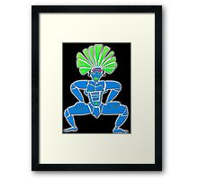 Dance Warrior  BIG CHIEF Framed Print