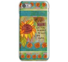 My Own Person Sunflower iPhone Case/Skin