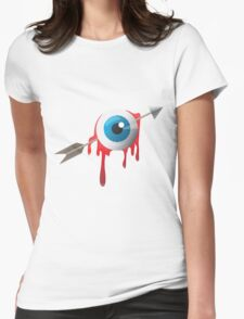Arrow eye -blue on white- Womens Fitted T-Shirt