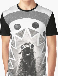 Trippy Smiling Llama Graphic T-Shirt