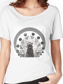 Trippy Smiling Llama Women's Relaxed Fit T-Shirt