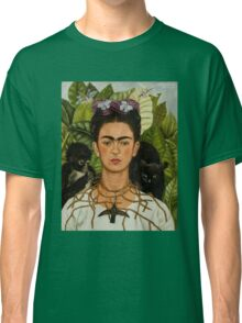 Self-Portrait with Thorn Necklace and Hummingbird  by Frida Kahlo Classic T-Shirt