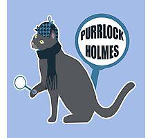 Purrlock Holmes Photographic Print