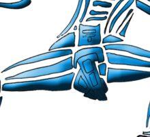 Dance Warrior III  FIST and SPEAR in Blue Sticker