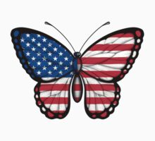 American Flag Butterfly Kids Clothes