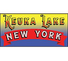 KEUKA LAKE NEW YORK FINGER LAKES NY Photographic Print