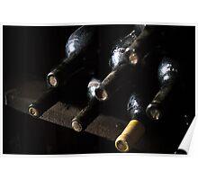 Wine Cave Bottles Poster