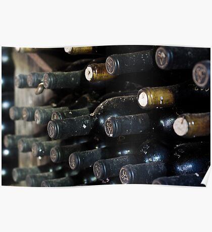 Wine Bottle Cave Poster