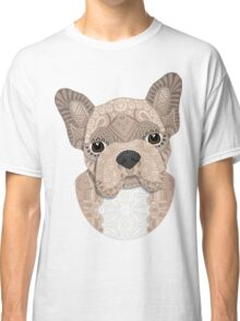Beige Frenchie Puppy 001 Classic T-Shirt