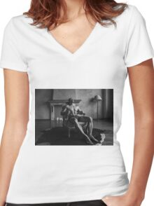 Exhale The Vile Women's Fitted V-Neck T-Shirt