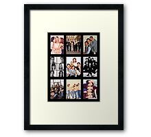Friends Photoshoot Collage Framed Print