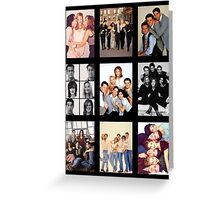 Friends Photoshoot Collage Greeting Card