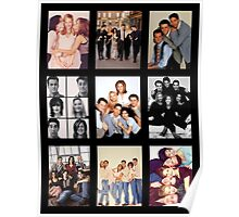 Friends Photoshoot Collage Poster
