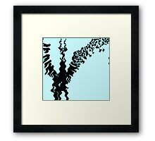 the reflection of what was. Framed Print