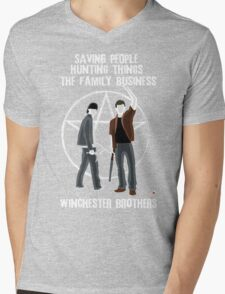 Winchester Brothers Mens V-Neck T-Shirt
