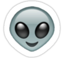 Alien Emoji  Sticker