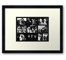 Friends Photoshoot Collage Black & White Framed Print