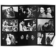 Friends Photoshoot Collage Black & White Poster