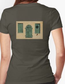 Green Jalousies Womens Fitted T-Shirt